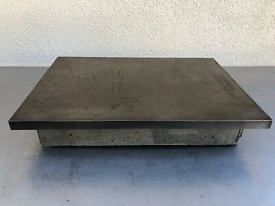 Vintage Machinist Steel Surface Plate 68 Pounds 17 Inches X 12 Inches X 3/4""