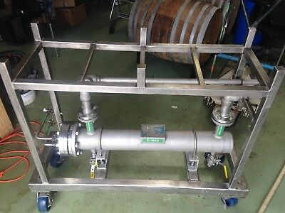 Yula Sanitary Wfi Cooler Wcv-8A-36Aas, Shell And Tube Heat Exchanger