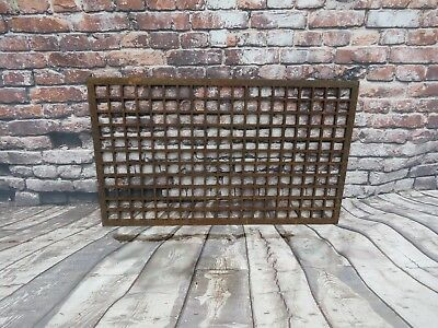 "Vintage Cast Iron Floor/Wall Register Grate Large 30""x 18"" Architectural Salvage"