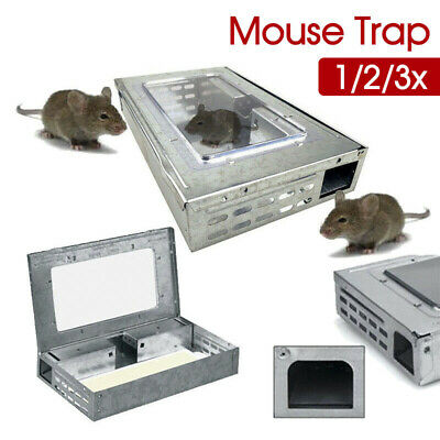 Multi Live Catch Mouse Humane Safe Self Catching Metal Trap Mice Reusable 1/3/5X