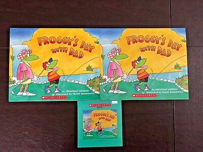 Froggy's Day with Dad Scholastic Listening Center 2 Books & CD- Jonathan London