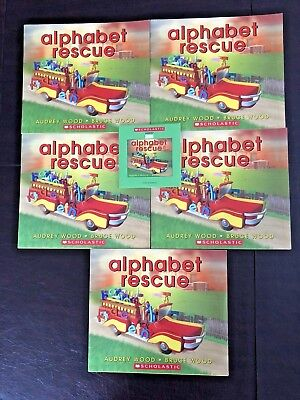 Alphabet Rescue Scholastic Listening Center 5 Books & CD- By Audrey & Bruce Wood