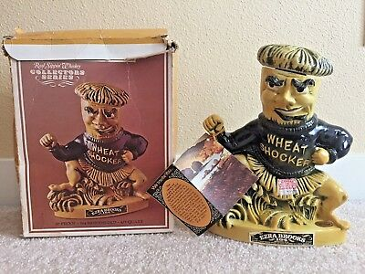 VINTAGE 1971 Ezra Brooks Wheat Shocker Decanter with Box and Tags - Empty- NICE!