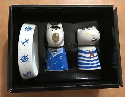 Salt Dog & Pepper Cat Shakers Animals Salt&pepper Retro Kitch Vintage Homewares