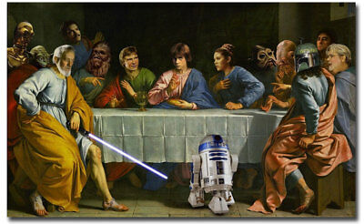 "Star Wars Last Supper Funny Iconic Fridge Toolbox Magnet Size 4.0"" x 2.5"""