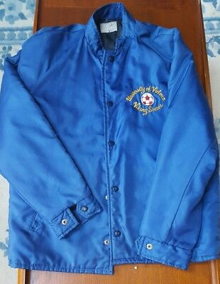 Vintage UVIC Vikes Soccer 1980s Embroidered Nylon Jacket XL Vikings Victoria BC