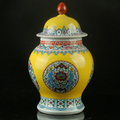 Chinese Porcelain Hand-painted Flowers Vase W Qianlong Mark R1148`b