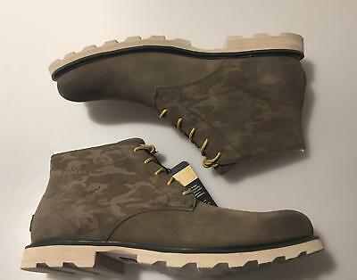 0f2e0e3251f SOREL MENS MADSON Chukka Boot 11 Waterproof Suede Ankle Leather Shoes Camo