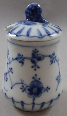 First Quality Bing & Grondahl Blue Traditional Mustard Pot with Snail Finial 551