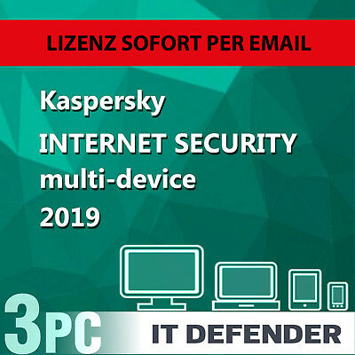 Kaspersky Internet Security 2019 / 2020  3PC / Geräte 1Jahr Vollversion