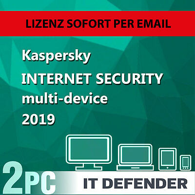 Kaspersky Internet Security 2019 2PC / Geräte 1Jahr Vollversion Key/ auch f.2020