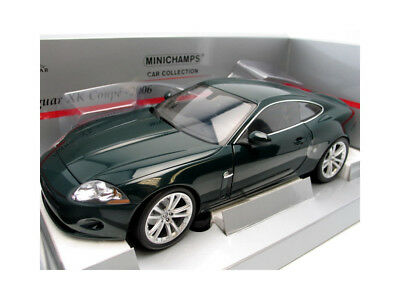 Minichamps 2006 JAGUAR XK COUPE GREEN Metallic  in 1/18 Scale. Hard to find!
