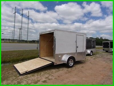 7x10 2 ft v nose 12 inside cargo enclosed Motorcycle Package 2 bike trailer New