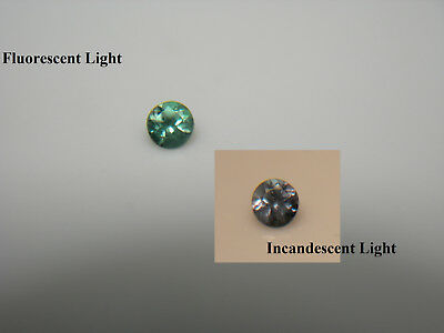 RARE Alexandrite gem COLOR CHANGE Green Purple Natural Genuine FLUORESCENT A6