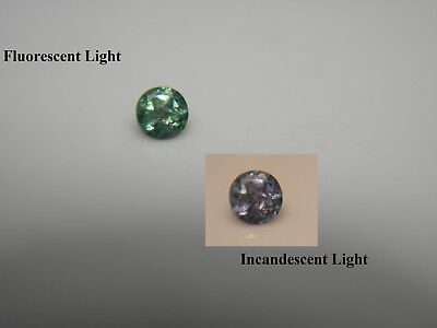 RARE Alexandrite gem COLOR CHANGE Green Purple Natural Genuine FLUORESCENT A9