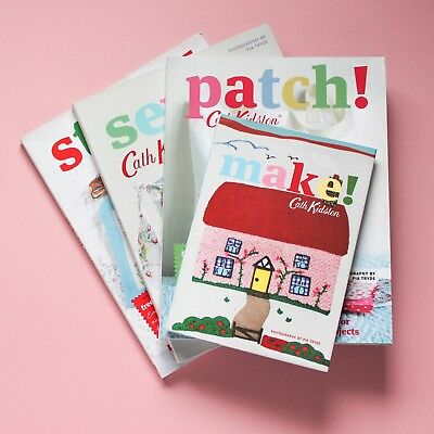 Cath Kidston Sewing Books Stitch! Sew! Patch! Make! Excellent Condition Set of 4