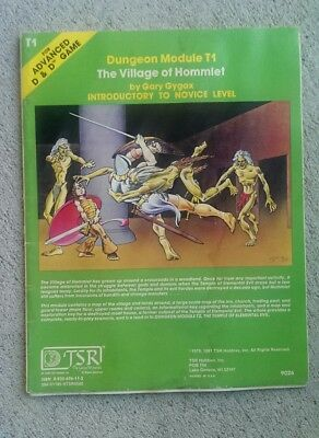 TSR Advanced D&D 1979 module T1: The Village of Hommlet, 6th Print, solid.