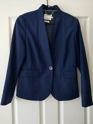 Attractive Sportscraft Signature Deep Blue Wool Blazer Size 10
