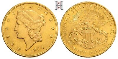 HMM - USA 20 Dollar 1904 Liberty Head / Double Eagle KM 74.3 vz - 180503003