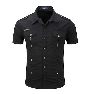 Casual High Quality Large Size Shirt For Man Pure Cotton With Turn-down Collar