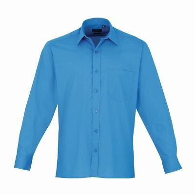 "Premier PR200 Sapphire 16.5"" Mens Long Sleeve Shirt - Smart Casual Business"