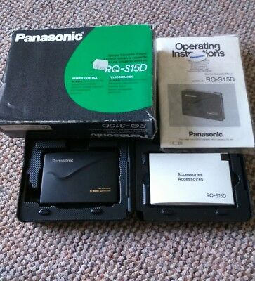 PANASONIC RQ-S15D Stereo Cassette Player Walkman In Original Box + Accessories