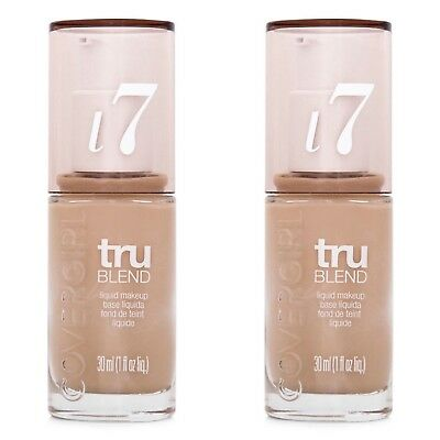 2 x COVERGIRL TRUBLEND LIQUID FOUNDATION MAKEUP 30ml - i7 WARM BEIGE