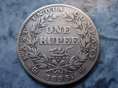 British-India~ Silver 1835 Rupee in Nice Condition!