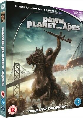Dawn Of The Planet Of The Apes 3D & 2D Blu Ray *NEW & SEALED FAST UK DISPATCH*
