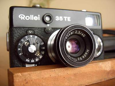 ROLLEI 35TE BLACK, 35mm point&shoot camera, Tessar 40mm f3.5 lens