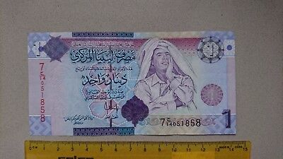 2009 Libya War - Gadaffi Dinar World Bank Note