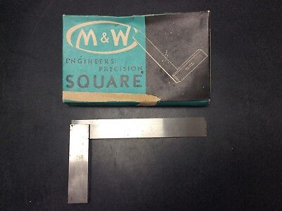 "Moore & Wright No 400/ 150mm (6"") engineers square  great condition original box"