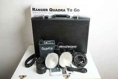 Elinchrom Quadra 2 HS head kit with Case, Pack, leads & Lith Ion Battery Boxed.