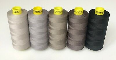 Gutermann Mara 150 sewing threads 5 x 1000 m.. Different colours. New.