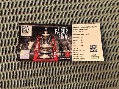 FA Cup Final 2018 Tickets * 2 Chelsea v Manchester Utd