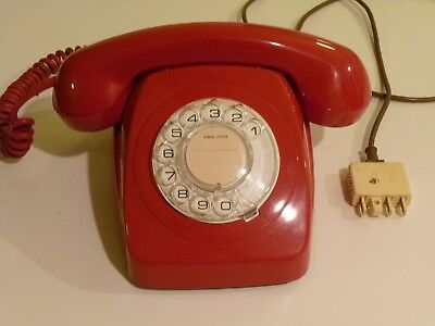 Vintage Red Rotary Dial Phone