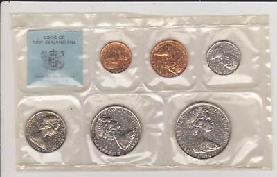 1968 New Zealand UNC Coin Set