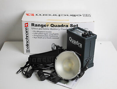 """Elinchrom Quadra Kit with Pack, Lith Ion Battery, """"A"""" Head and Trigger."""