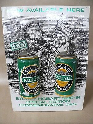 Limited Edition Cascade Ale Beer Can Shop Counter Display 47 Sydney Hobart 1990
