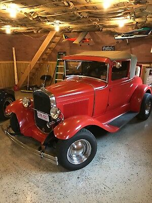 1930 Ford Model A  350 V8 automatic, heat, rumble seat, great driver, older restoration