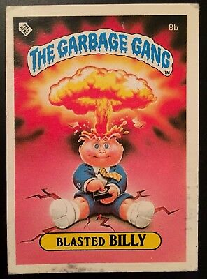 1986 The Garbage Gang #8b Blasted Billy Series 1 New Zealand Set Variation Card
