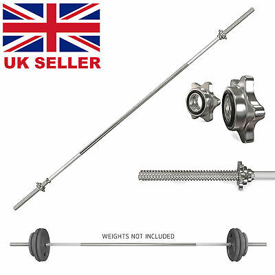 4ft Barbell Bar Weight Lifting Bar Collars Weights Bicep Tricep Squat Sets Set