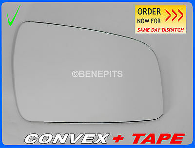 For VAUXHALL ZAFIRA B Wing Mirror Glass CONVEX 2010-2014 Right Side #F039