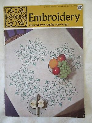 "Vintage Pattern Book - ""Embroidery - inspired by wrought iron designs"""