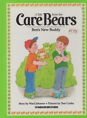 Vintage 1984 Care Bears Ben's New Buddy Illustrated Children's Book