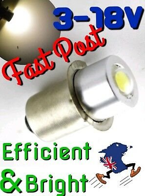 Torch LED Flash light Bulb 3V - 18V《14X8mm》Makita Ryobi DeWalt AEG Metabo 12v 9v