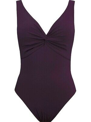 9a37d5cb479 Karla Colletto Rick Rack Scalloped-Neck Underwire One-Piece Swimsuit - Navy