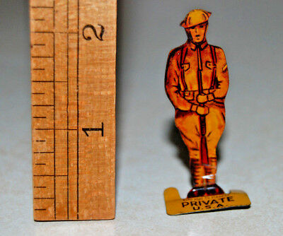 Cracker Jack Premium tin standing toy prize MILITARY SOLDIER PRIVATE U.S.A.