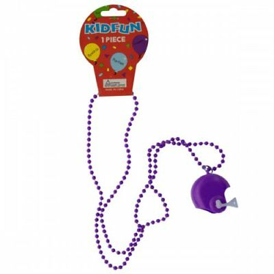 Purple Football Helmet Party Necklace