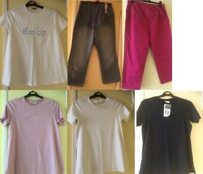 Brand New Next Maternity 6 Item Bundle Tops Cropped Jeans Size 14 T-Shirts